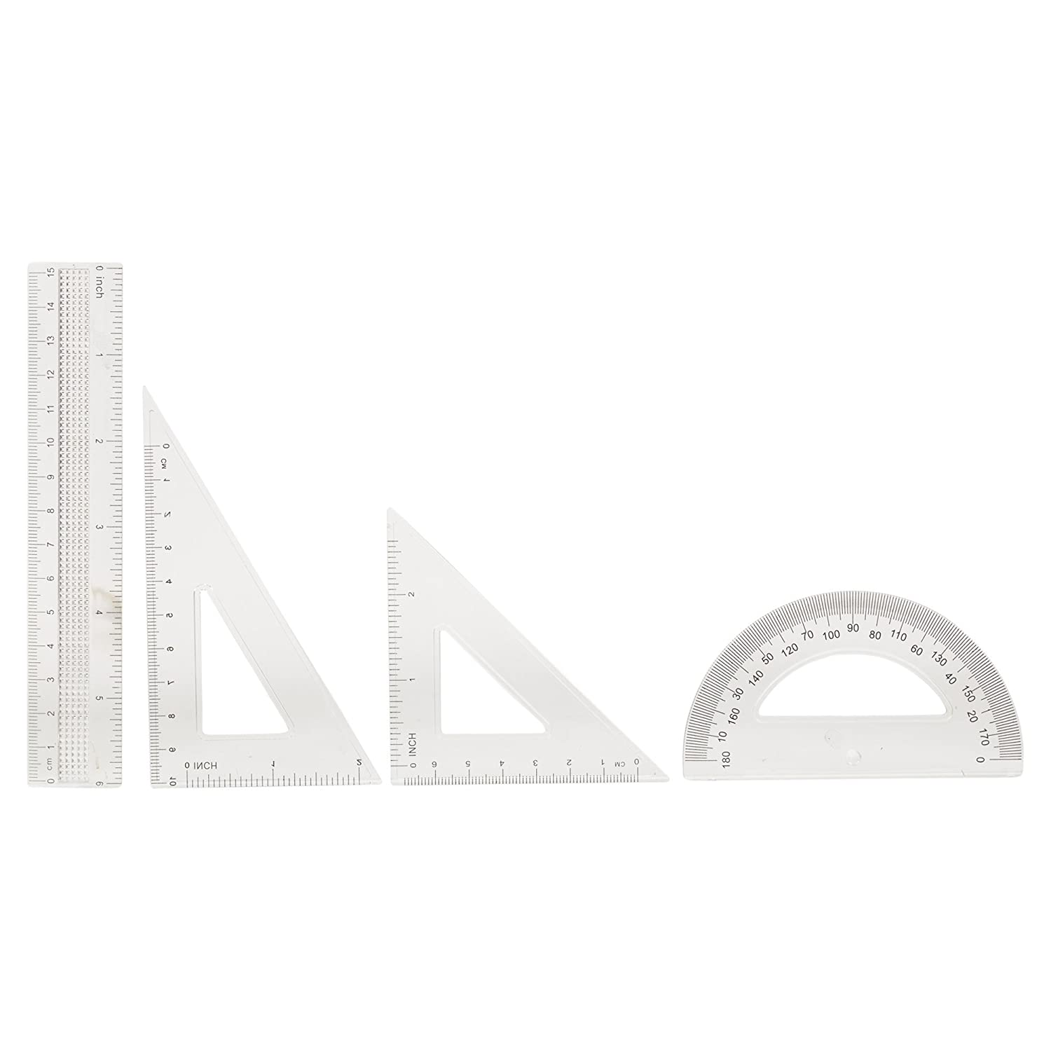 8 Pc Compass Precision Drawing Set Ruler Protractor Boxed Case School Geometry