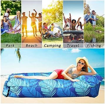 KEKE Sofa Inflable, Tumbona Hinchable para Piscina Acampada Playa Senderismo Parque Patio Jardín Fácil Inflado: Amazon.es: Deportes y aire libre