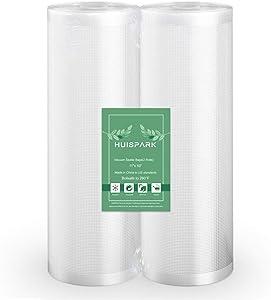 11''x50' Vacuum Sealer Food Storage Bags Heat Sealing Bag Sous Vide(2-Pack Roll)