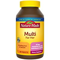 Nature Made Women's Multivitamin Tablets, 300 Count for Daily Nutritional Support...
