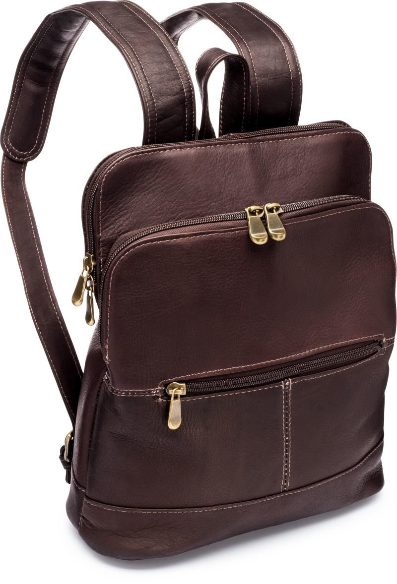 Le Donne Riverwalk Women's Leather Backpack in Cafe