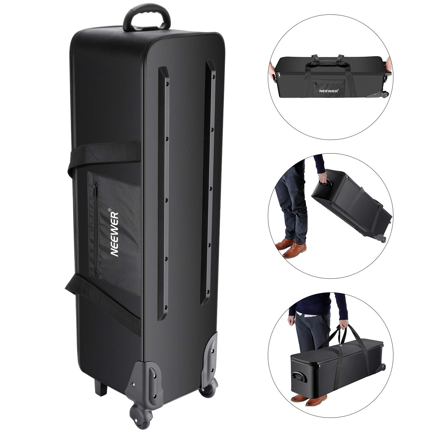 Neewer Photo Studio Equipment Case Rolling Bag 40.1x11.8x11.8 inches/102x30x30cm Trolley Carrying Case for Light Stand, Tripod, Light, Umbrella, etc by Neewer