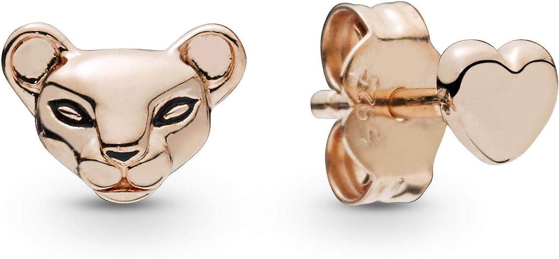 pandora boucles d'oreilles femme rose