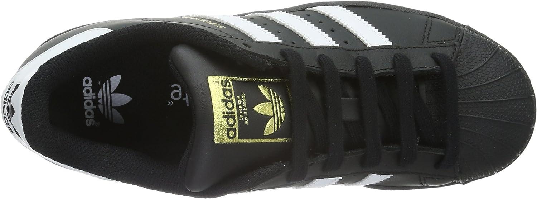 Adidas B23642 Chaussures de Basketball, Garçon, White, Noir (Core Black/Footwear White/Core Black)