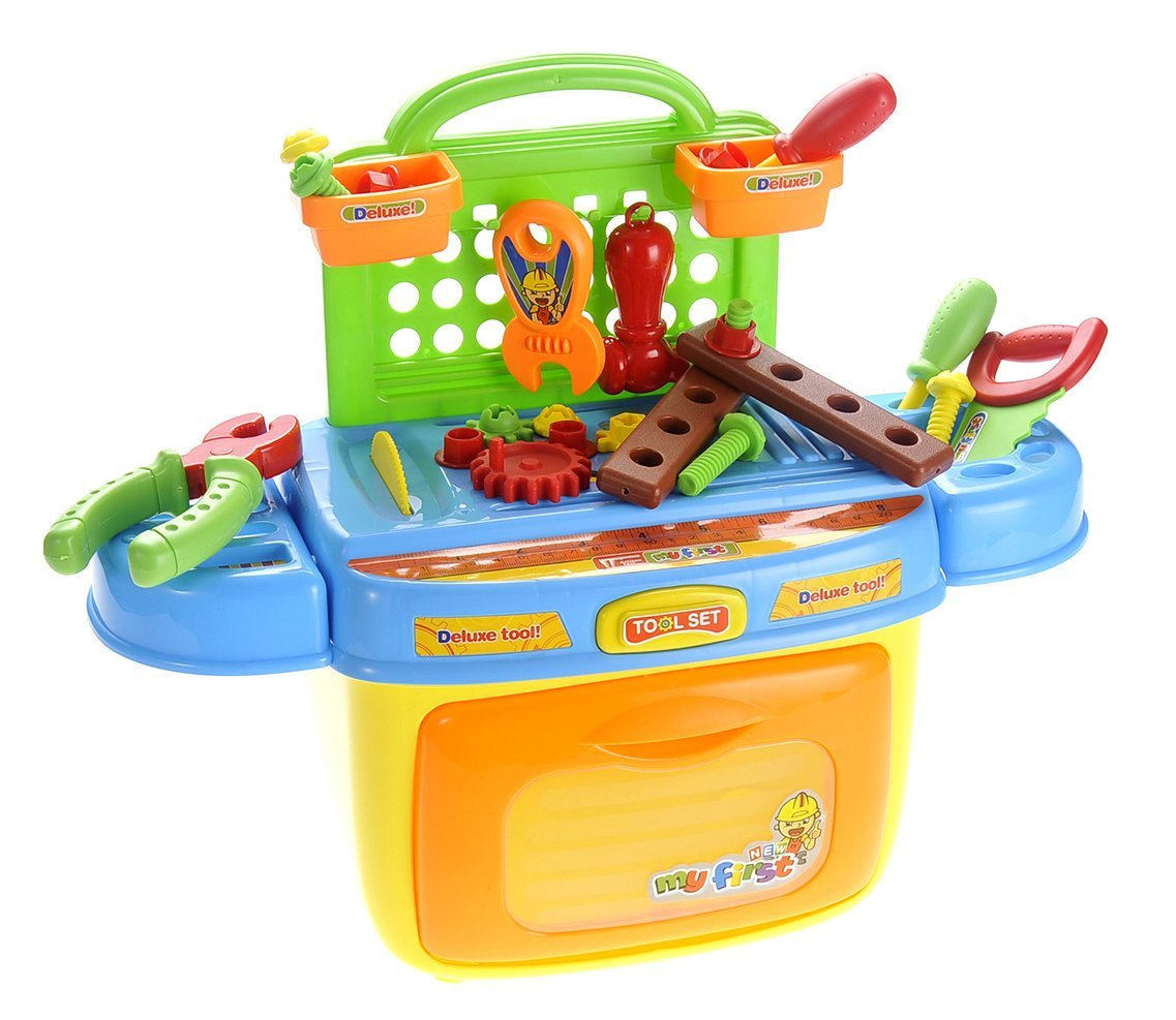 COTTONTAIL Tool Box for Kids Playset With Sound & Lights Compact Portable