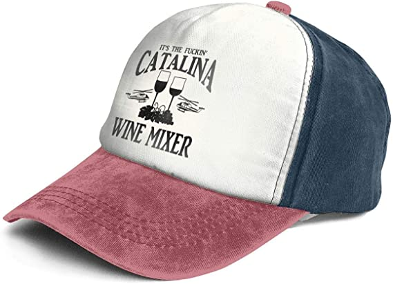 Vintage Catalina Wine Mixer Cotton Adjustable Washed Dad Hat Baseball Cap