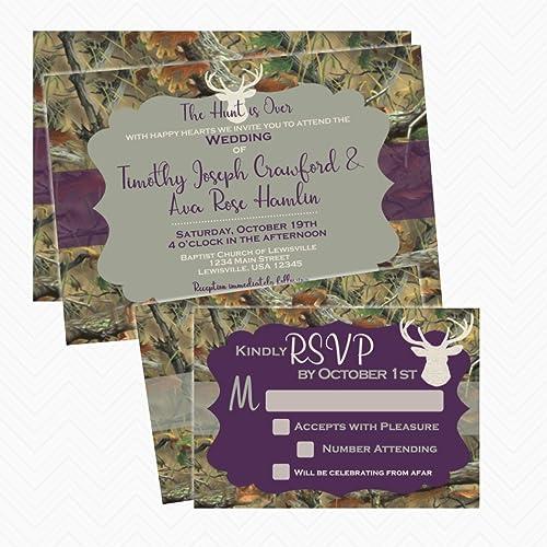 Amazon camo deer antler wedding invitation set with rsvp card camo deer antler wedding invitation set with rsvp card envelopes included stopboris Gallery