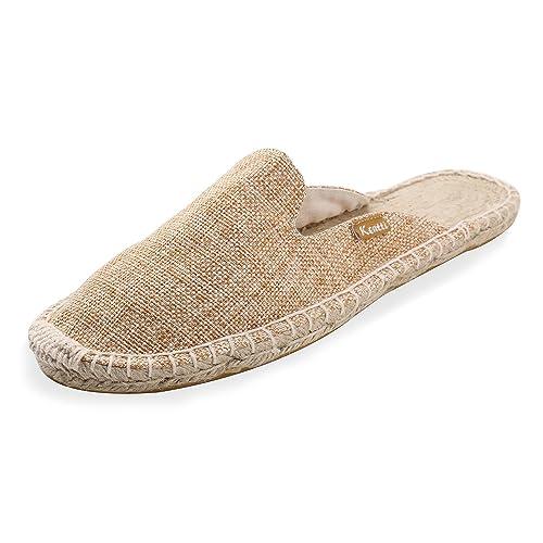 Kentti Pantuflas Alpargatas Planas de Lona con Textura Natural para Mujer: Amazon.es: Zapatos y complementos