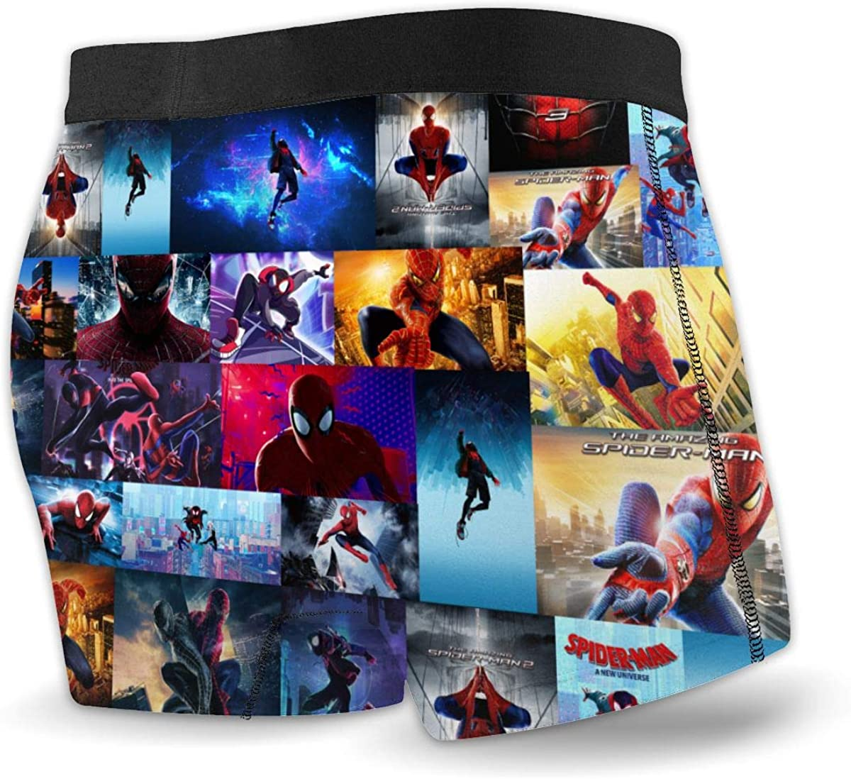 Spider Man Into The Verse Boxer Briefs Mens Underwear Novelty Boxers with Soft Stretch Fabric and Elastic Belt