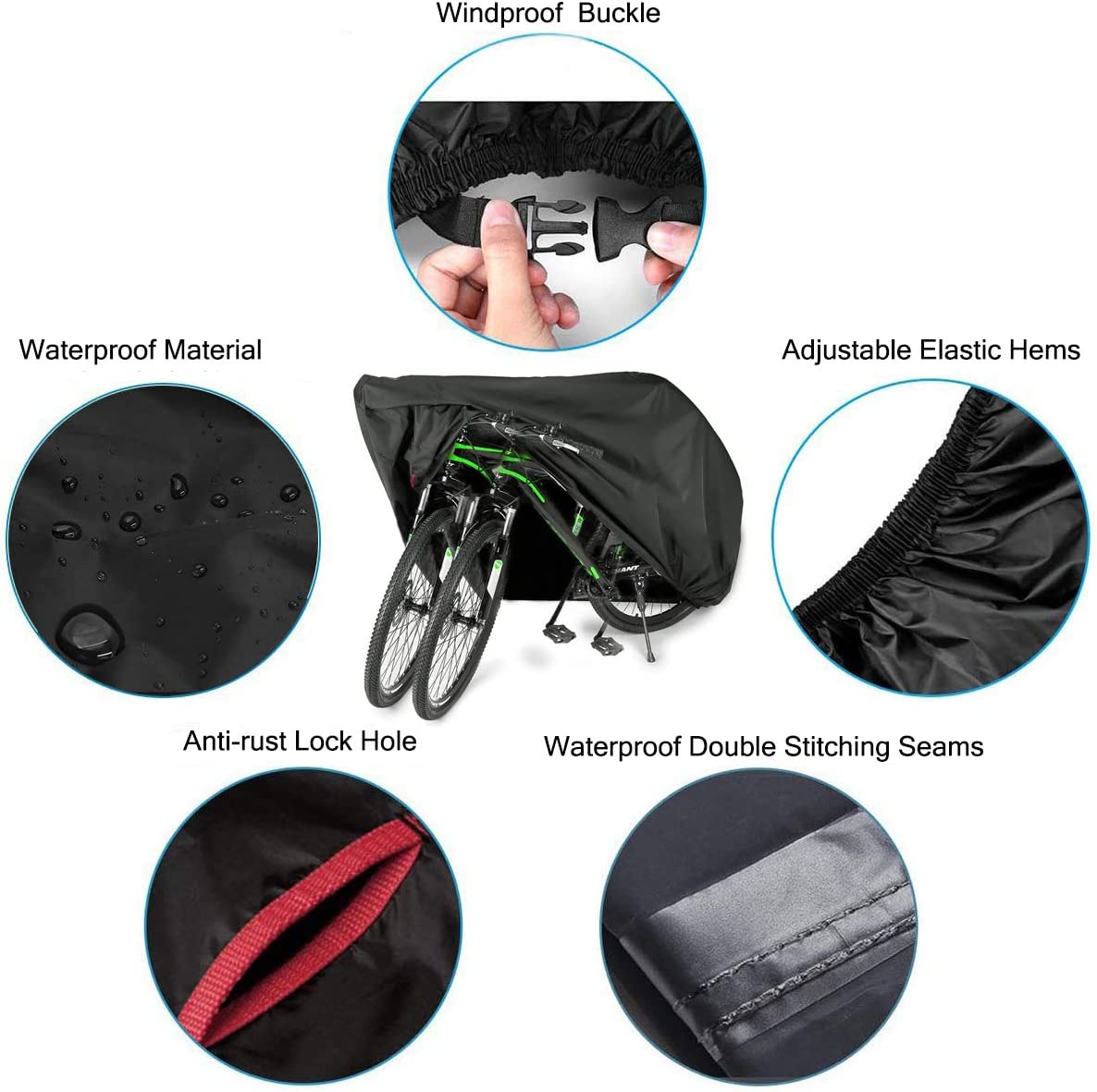 Eugo Bike Cover For 2 Or 3 Bikes Outdoor Waterproof Bicycle Motorcycle Covers Xl