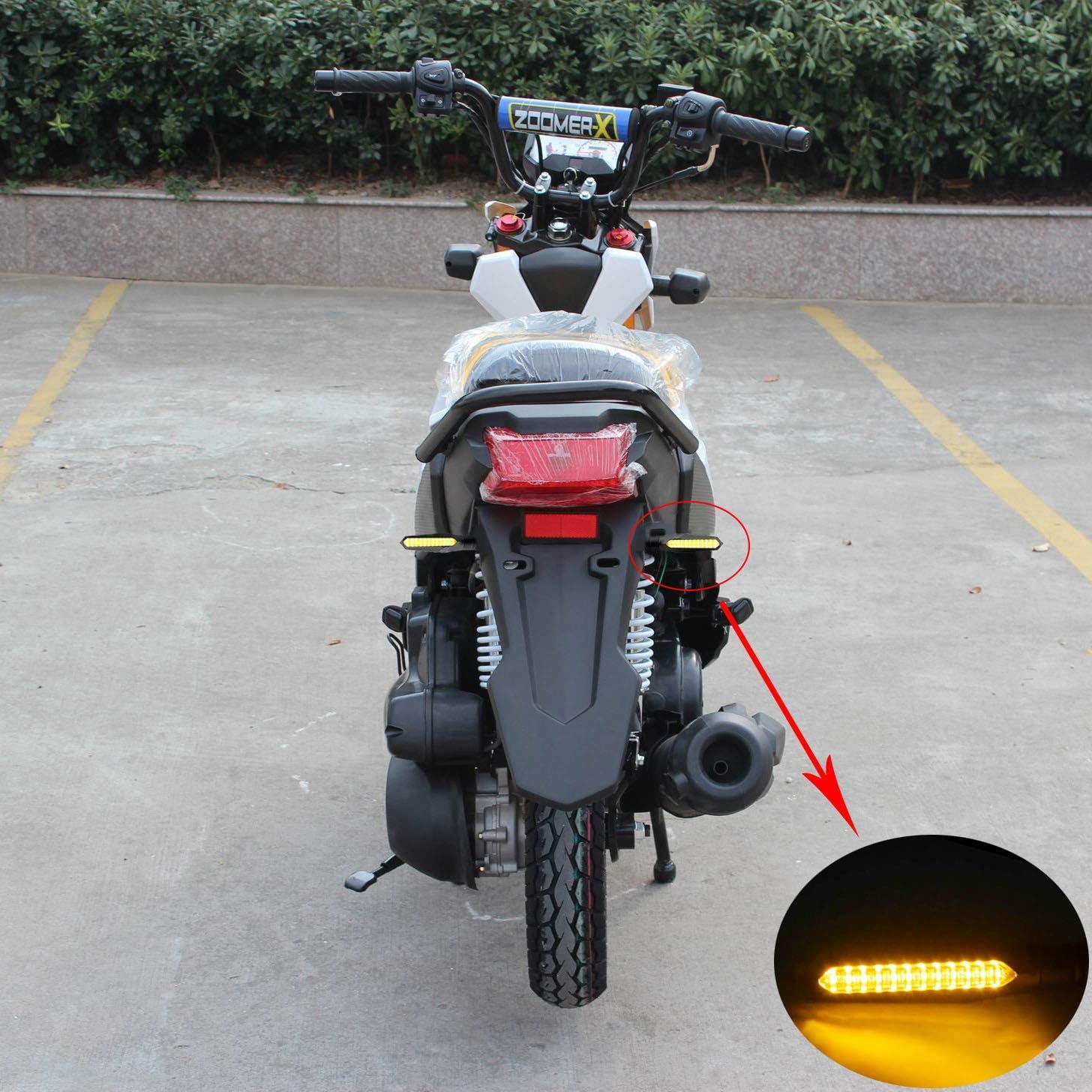 ZoooaH 4pcs clignotant moto LED a 12 LEDs,Clignotants moto LED en deux couleurs jaune et bleu,Nouveaux Indicateurs pour moto haut de Gamme tr/ès populaires