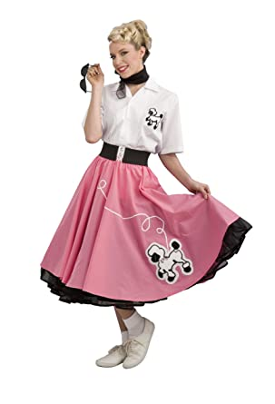 Rubies Costume Grand Heritage Collection Deluxe 1950s Poodle Skirt Pink Medium
