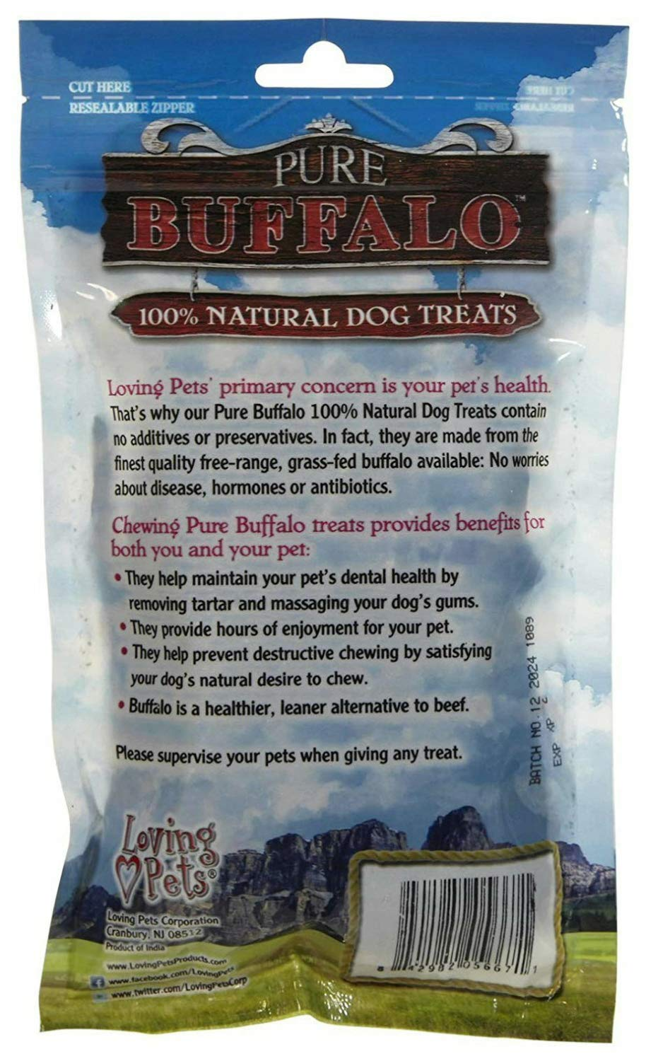 Loving Pets Pure Buffalo Meat Jerky Strips Dog Chews, 3.5 Ounce, 24 Pack by Loving Pets (Image #4)