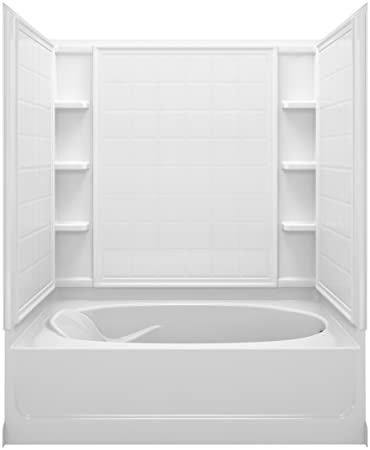 Sterling Plumbing 71110120 0 Ensemble Bath And Shower Kit, 60 Inch X 42