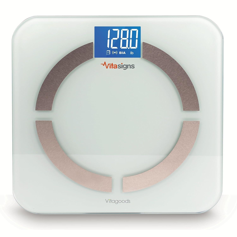 CDM product Vitagoods Bluetooth Smart Digital Glass Body Scale, White big image