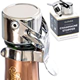 Champagne Stoppers by Kloveo - Patented Seal (No Pressure Pump Needed) Made in Italy - Professional Grade WAF Champagne…