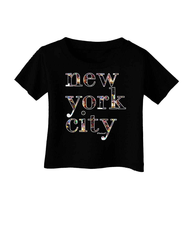 TooLoud New York City City Lights Infant T-Shirt Dark