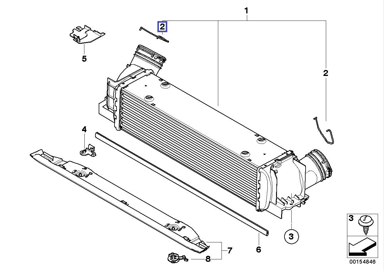 BMW Turbo Intercooler Hose Pipe Clip Right 7798485 17517798485: Amazon.es: Coche y moto