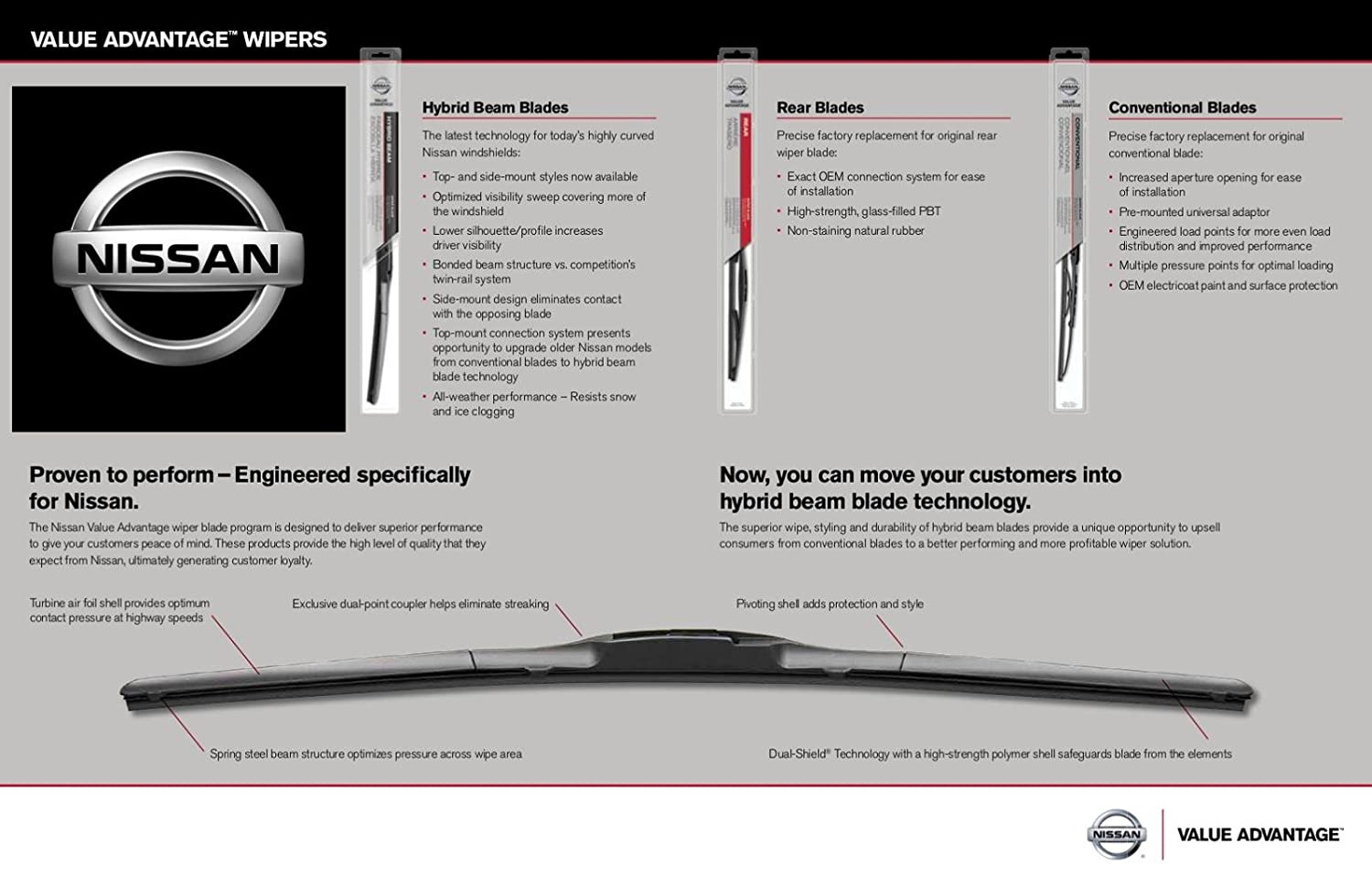 Genuine Nissan OEM VA Wiper Blade Kit - Versa Note (2013-2019)