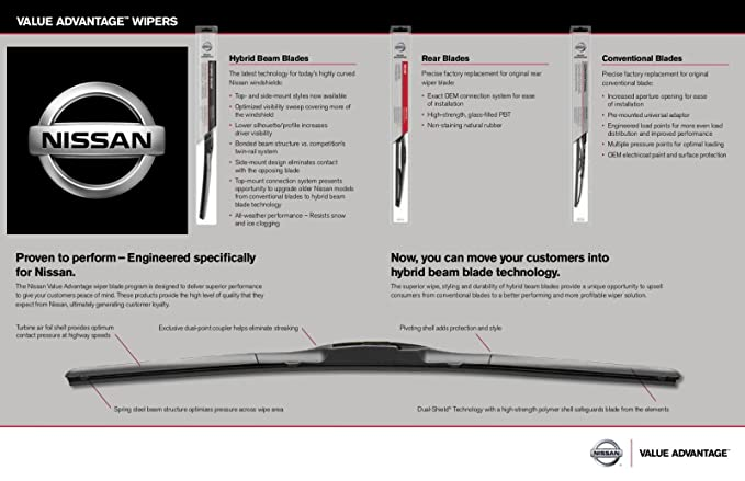 Amazon.com: Genuine Nissan OEM VA Wiper Blade Kit - Versa Note (2013-2019): Automotive