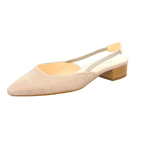 c37a894ce5e4e Peter Kaiser Castra Women s Dressy Low Heel Sandals in Powder Shimmer 4  Powder  Amazon.co.uk  Shoes   Bags