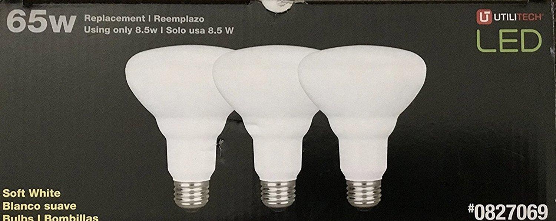 Utilitech (2) 3-Packs 65 W BR30 Equivalent 8.5W Dimmable Soft White LED Flood Lights - - Amazon.com