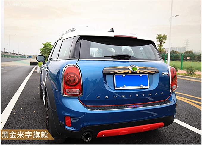 Lift Gate Door Handle Gray//Black Union Jack UK Flag ABS Sticker Cover Trim Cap for Mini Cooper ONE S JCW F Series F60 Countryman 2017+