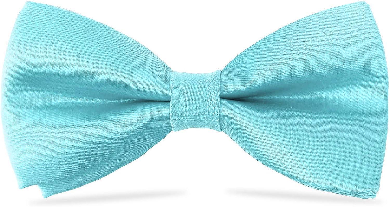 WELROG kids Boys Silk Bow Ties Baby Pre Tied Solid Color Adjustable Bowtie length 10 x 5 cm