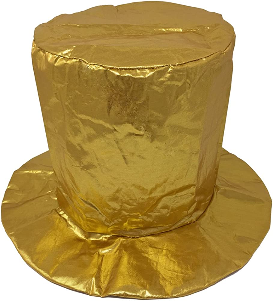 Child Shiny Gold Top Hat ~ HALLOWEEN PARTY BIRTHDAY MARDI GRAS NEW YEAR/'S