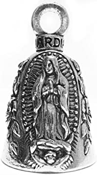2 Guardian Virgin Mary Motorcycle Biker Luck Gremlin Riding Bell or Key Ring