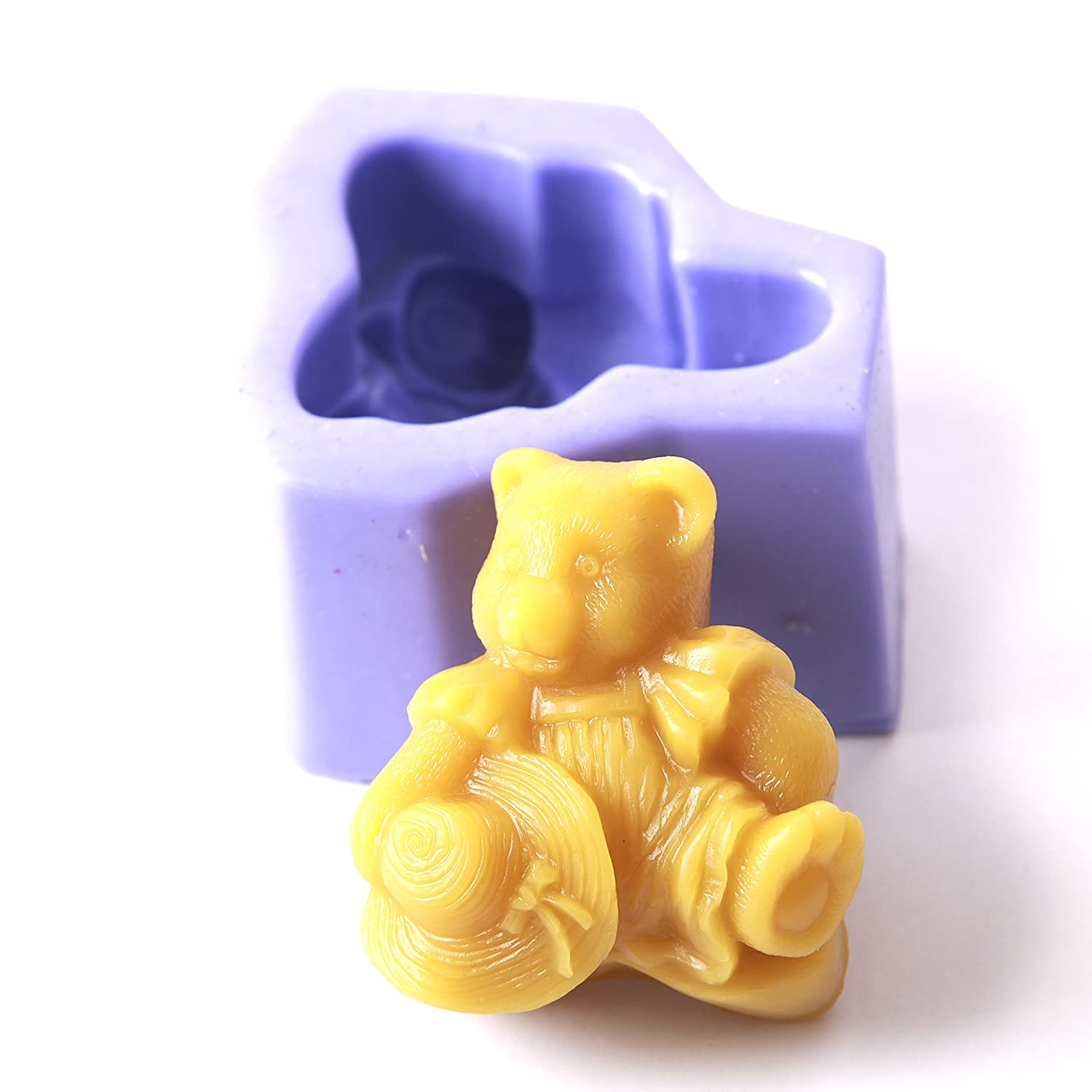 Antique Teddy Silicone Mould x 10   B01MYFFE4Y