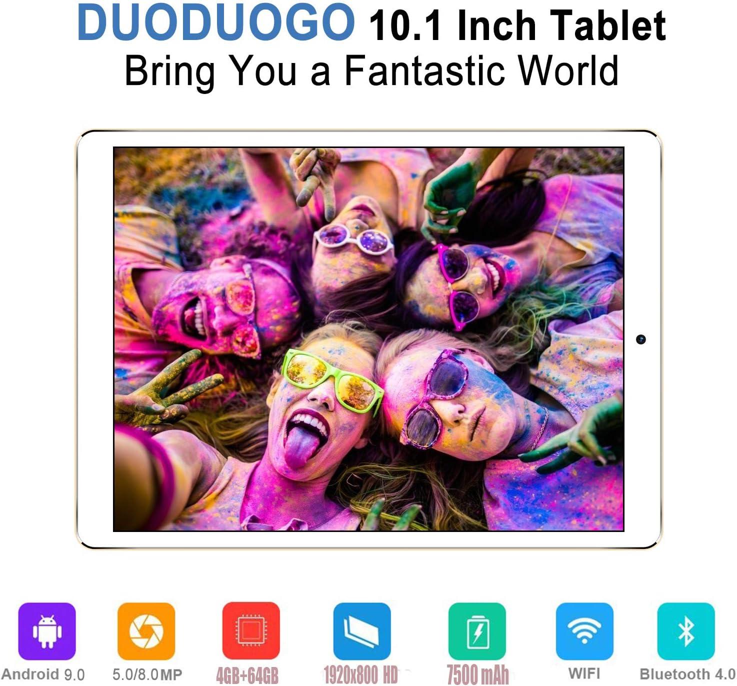 8MP C/ámara Tableta Rat/ón y Teclado 7500mAh Bater/ía 5MP Nergo Tablets PC 4GB RAM+64GB ROM Tres Ranuras: 1xMicroSD + 2xSIM Tablet 10 Pulgadas 4G Android 9.0 +
