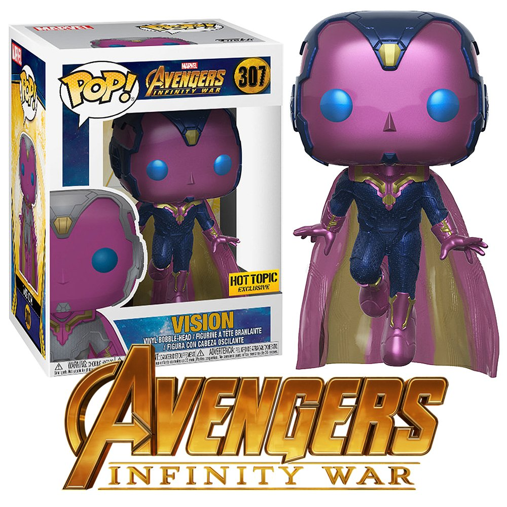 Funko Pop Avengers Vision, Avengers, Infinity War, Marvel Universe, MCU, Iron Man, Thor, Thanos, cosplay gear, action figures, Marvel items, Hulk, Spider Man, Captain America, Black Widow, Doctor Strange,