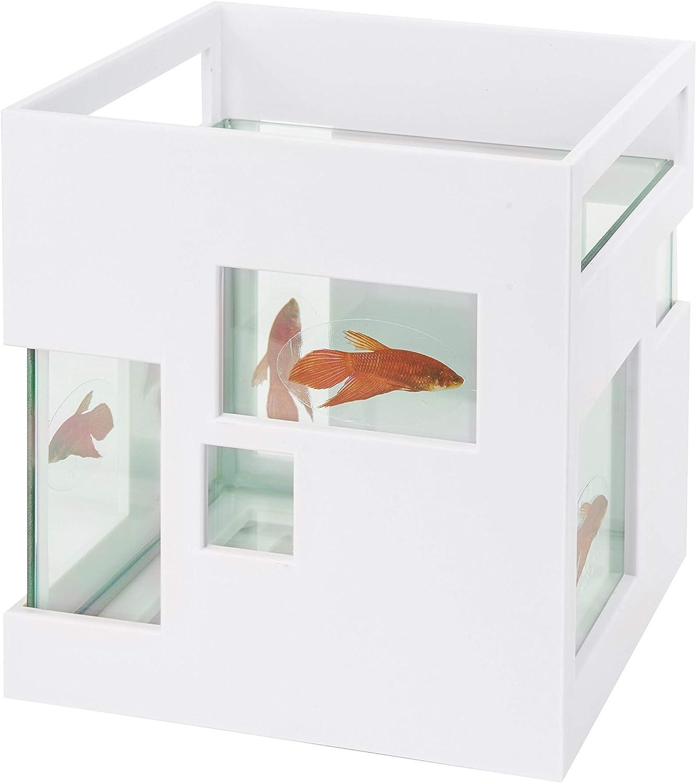 UMBRA Fishhotel.  Bocal à poissons Fishhotel. Coloris Blanc. Dimension : 19x19x20cm.