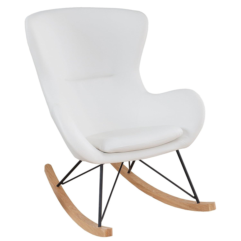 Design Schaukelstuhl SCANDINAVIA SWING weiß Schaukelsessel Sessel Stuhl Wohnzimmersessel