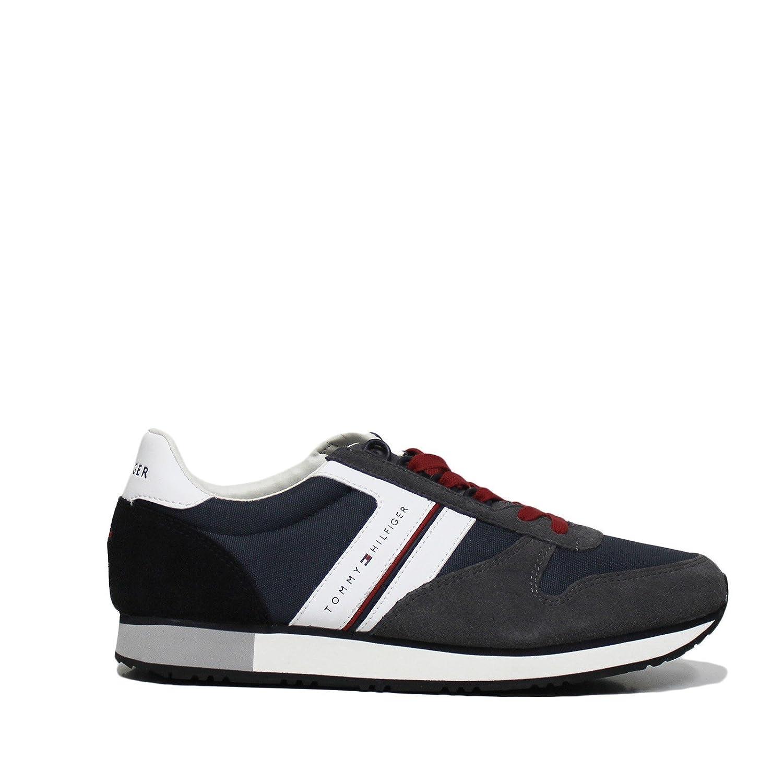 4833760cf78d0 Tommy Hilfiger Shoes Men Low Sneakers FM0FM01590 909 New Iconic Size 45 Blue   Amazon.ca  Shoes   Handbags