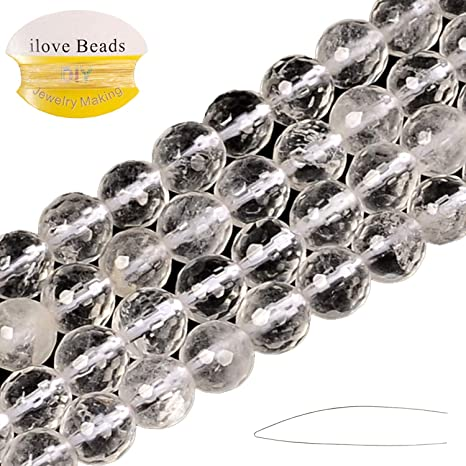 """Natural 6 mm Faceted India Black Gray Labradorite Gems Round Loose Beads 15/"""""""