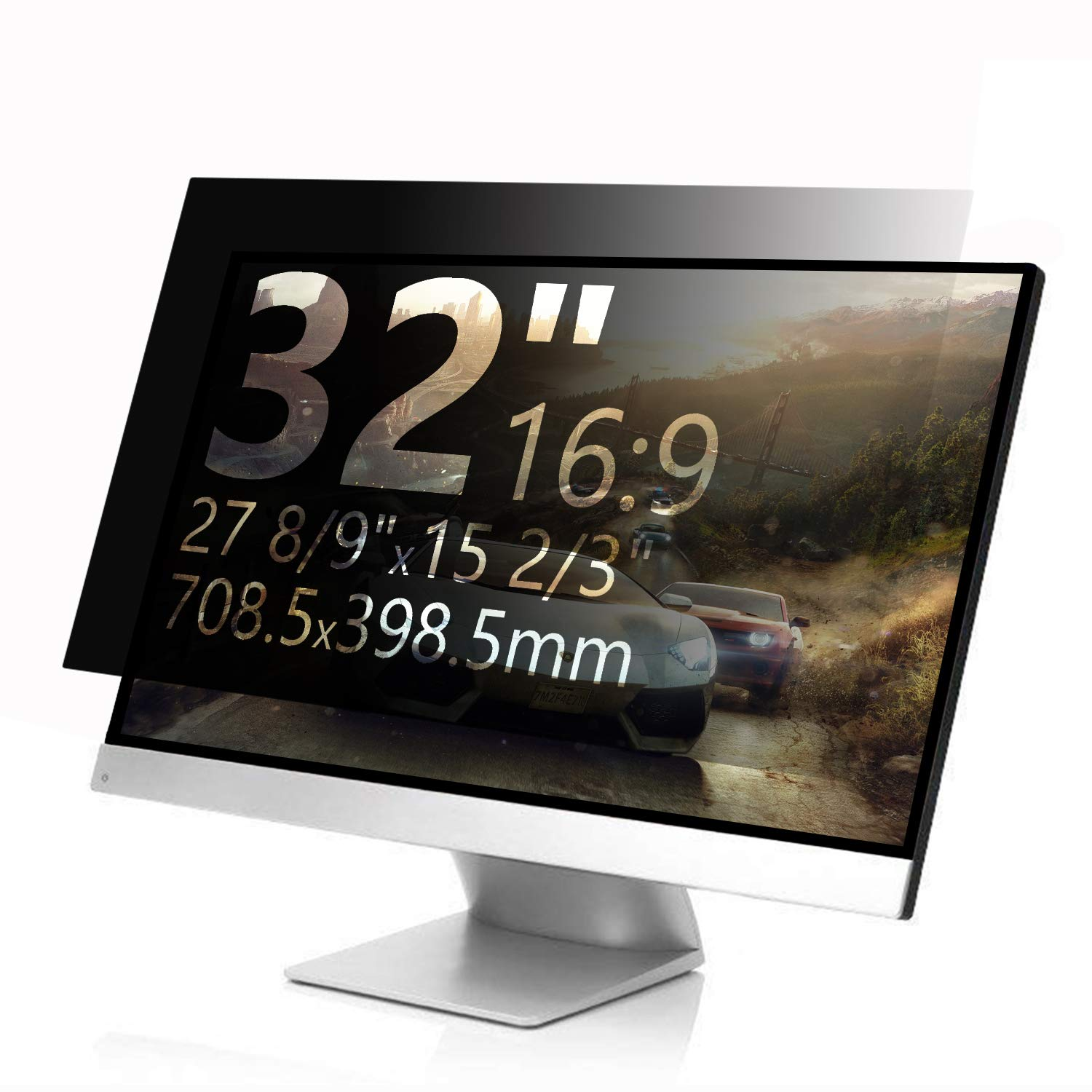 MAYAMANG Privacy Screen Protector 32 Inch 16:9 Monitor, Privacy Filter for Widescreen PC Computer, Monitor Privacy Screen 32 Inch, Anti-Glare Computer Privacy Screen, Monitor Protector by MAYAMANG