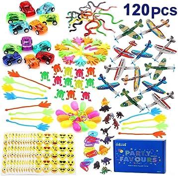 nicknack 120 di Giocattoli per Bambini, Bomboniere per Feste Forniture Ragazza Ragazzo Regalo di Compleanno Borse Bambini Premio Scuola di Carnevale,