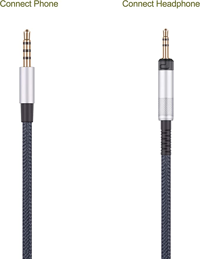 Audio Replacement Cable Only Compatible with Audio Technica ATH-M50x ATH-M40x ATH-M70x Headphones and Samsung Galaxy Huawei Android with in-Line Mic Remote Volume Control