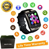 Bluetooth Smart Watch With Camera Touch Screen Smartwatch Unlocked Watch Cell Phone With Sim Card Slot Pedometer Fitness Tracker For ios iPhone Android Phones Samsung LG HTC Huawei Sony Men Women Kids (Black)