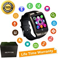 Smart Watches SN06 Smartwatch Unlocked Watch Phone With Camera Touch Screen Sim Card Slot Pedometer Fitness Tracker For ios iPhone Android Samsung LG HTC Huawei Xiaomi Sony Men Women Kids (Black)