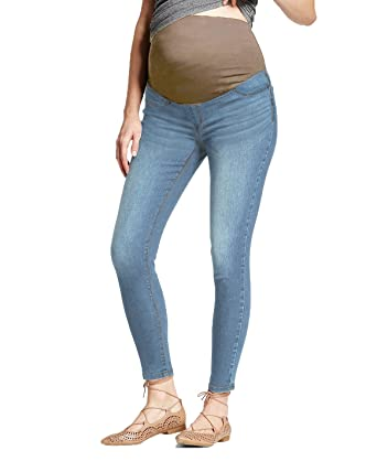 0b5f1b64dd775 HyBrid   Company Super Comfy Stretch Women s Skinny Maternity Jeans PM4822S  Light BLUE2 Medium