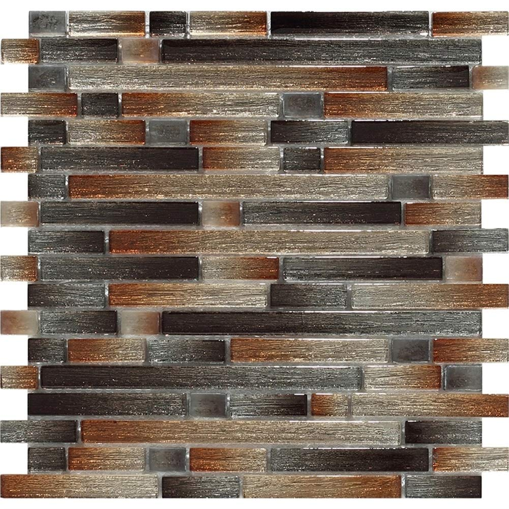 Crystal Glass Mosaics Wall Tile in Silk Backed Gold Wall Tiles for Kitchen Backsplash and Bathroom by Chery