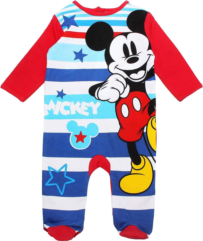 Disney Mickey Mouse Babies Boys Star Pyjamas Baby Grow