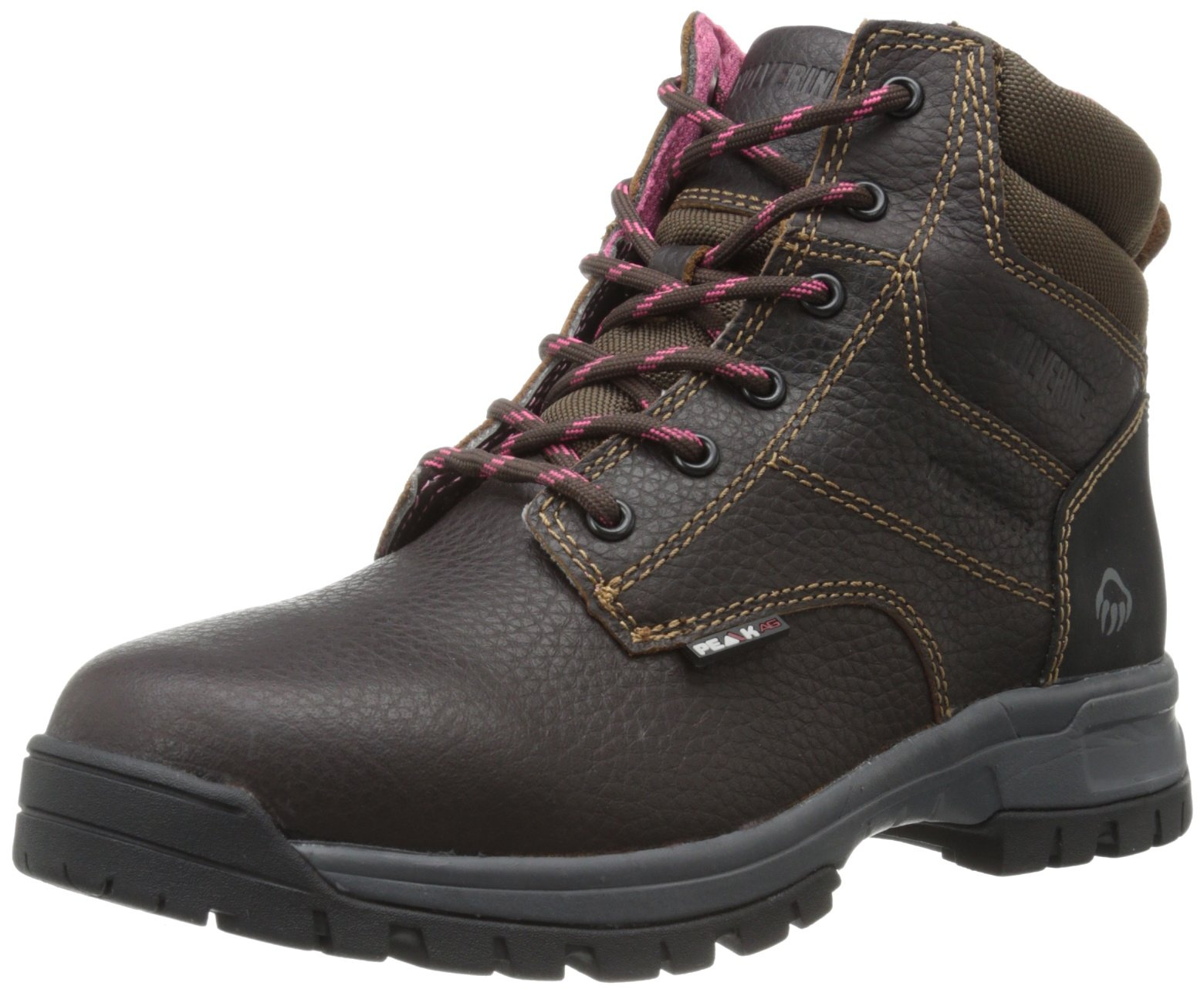 Wolverine Women's Piper Comp Safety Toe Boot,Brown,8 M US
