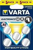 Varta 6032101415  Set di 5 Pile a Bottone CR 2032 Electronic