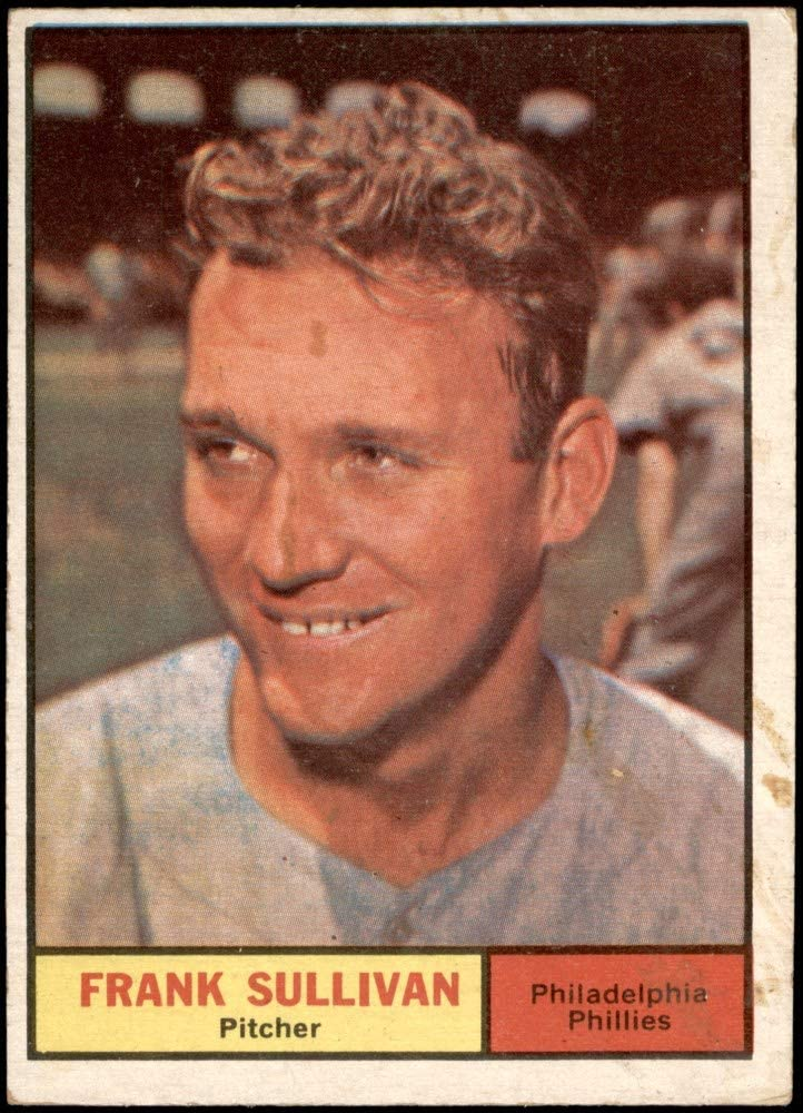 1961 Topps # 281 Frank Sullivan Philadelphia Phillies (Baseball Card) Dean's Cards 2 - GOOD Phillies