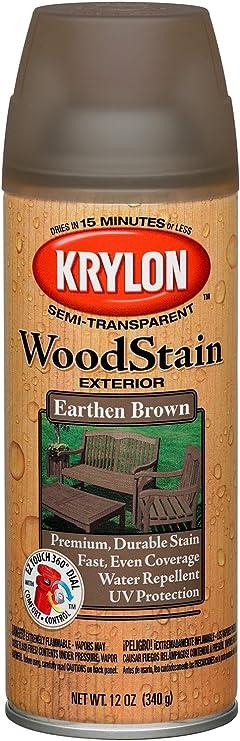Krylon - K03607000 - Tinte para madera en aerosol, color marrón tierra