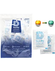 Dry & Dry 5 Gram[20-3000 Packets] Premium Pure & Safe Indicating & Non-Indicating Silica Gel Packets Desiccant Dehumidifier - Rechargeable (Food Safe FDA Compliant)